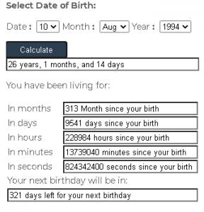 chronological-age-Calculator
