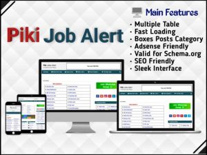 Piki Job Alert the best blogger template for job website