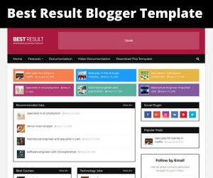 best result blogger template free download for job portal website